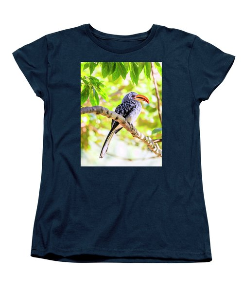 Women's T-Shirt (Standard Cut) featuring the photograph Southern Yellow Billed Hornbill by Alexey Stiop