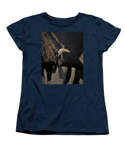 Women's T-Shirt (Standard Cut) featuring the digital art Southern Yellow Billed Hornbill by Ernie Echols