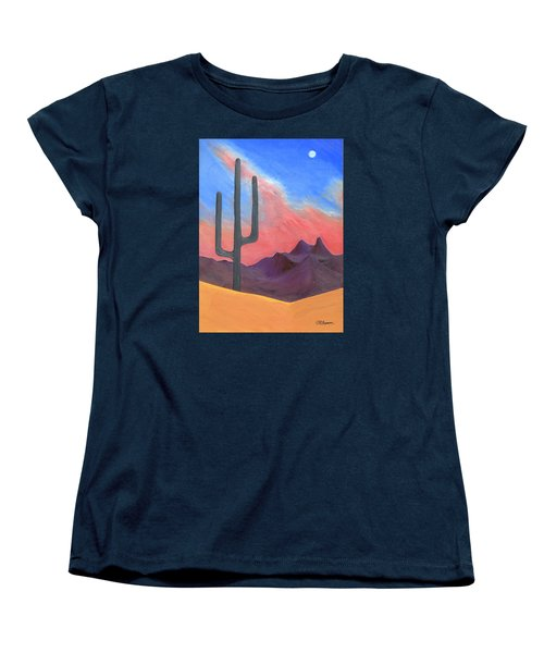 Women's T-Shirt (Standard Cut) featuring the painting Southwest Scene by J R Seymour
