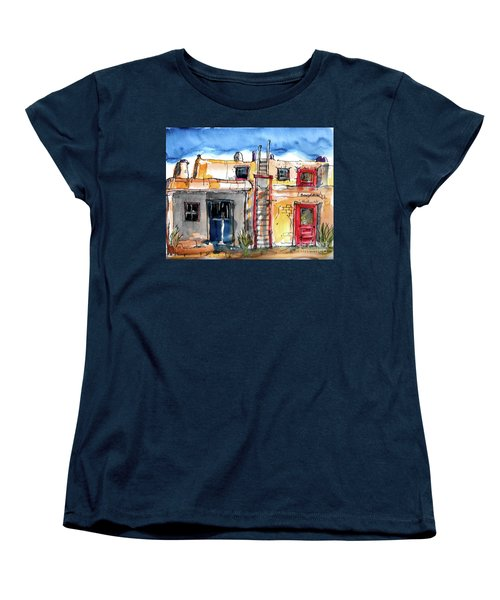 Women's T-Shirt (Standard Cut) featuring the painting Southwestern Home by Terry Banderas