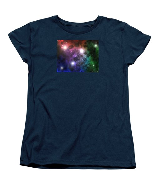 Women's T-Shirt (Standard Cut) featuring the digital art Space Clouds by Phil Perkins