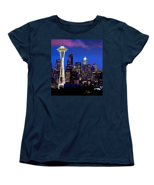 Space Needle At Night  Women's T-Shirt (Standard Cut)