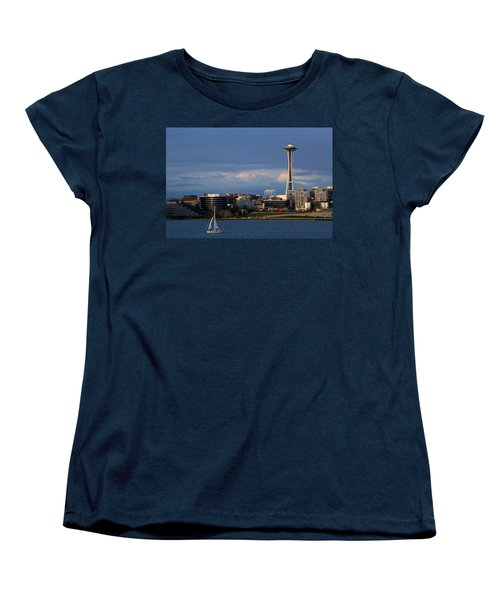 Space Needle Women's T-Shirt (Standard Cut) by Evgeny Vasenev