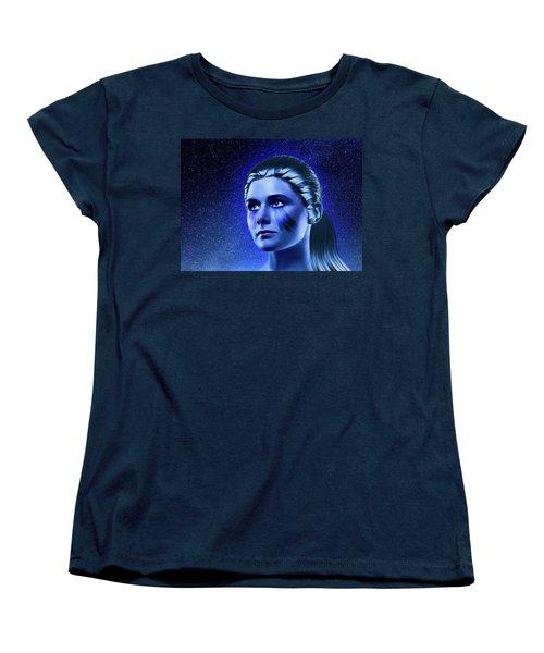 Space Odyssey Women's T-Shirt (Standard Cut) by Scott Meyer