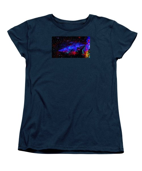 Women's T-Shirt (Standard Cut) featuring the painting Space-time Continuum by Mike Breau
