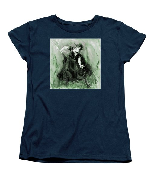Women's T-Shirt (Standard Cut) featuring the painting Spanish Flamenco Dancer by Gull G