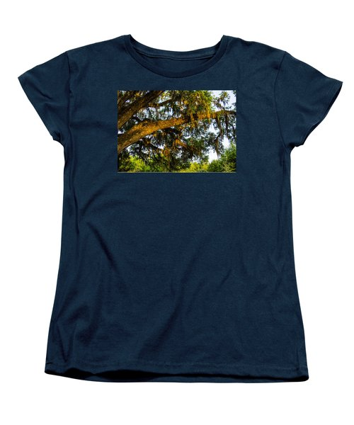 Spanish Moss In The Gloaming Women's T-Shirt (Standard Cut) by Deborah Smolinske