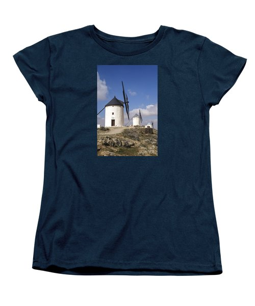 Spanish Windmills In The Province Of Toledo, Women's T-Shirt (Standard Cut) by Perry Van Munster