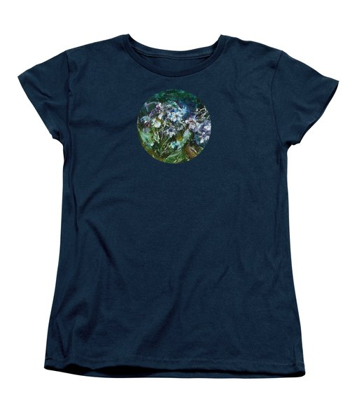 Women's T-Shirt (Standard Cut) featuring the painting Sparkle In The Shade by Mary Wolf