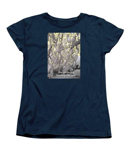 Sparkling Christmas Card Women's T-Shirt (Standard Cut)
