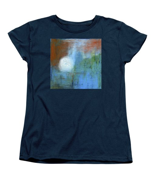 Women's T-Shirt (Standard Cut) featuring the painting Sparkling Sun-rays by Michal Mitak Mahgerefteh