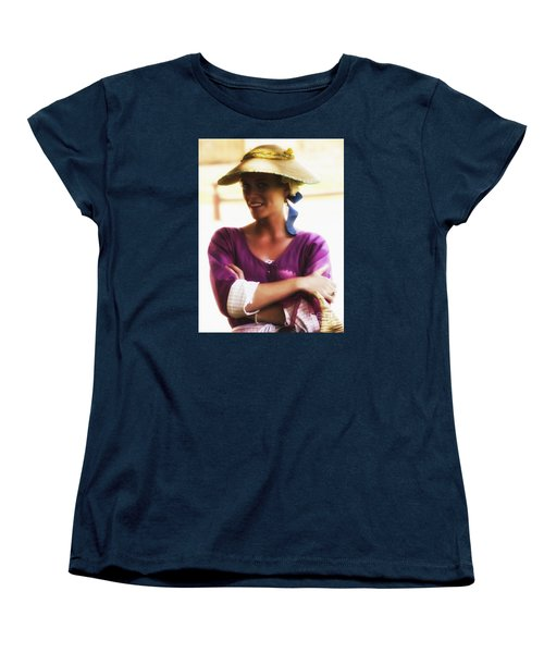 Women's T-Shirt (Standard Cut) featuring the photograph Speaking With Her Eyes  ... by Chuck Caramella