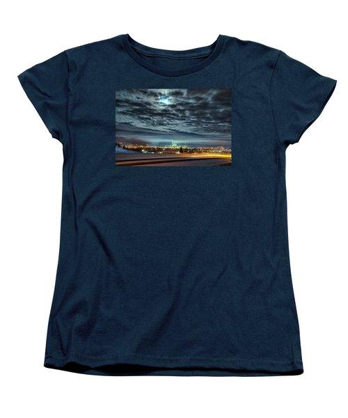 Spearfish Under The Moon Women's T-Shirt (Standard Cut) by Fiskr Larsen