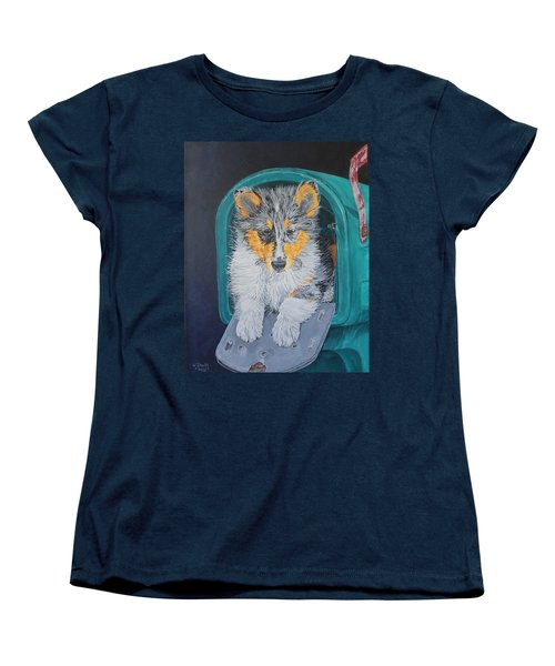 Women's T-Shirt (Standard Cut) featuring the painting Special Delivery by Wendy Shoults