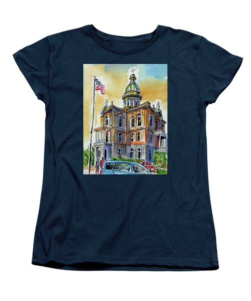 Women's T-Shirt (Standard Cut) featuring the painting Spectacular Courthouse by Terry Banderas