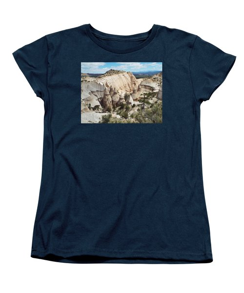 Spectacular Slot Canyon Trail View-at-the-top Women's T-Shirt (Standard Cut) by Cindy Croal