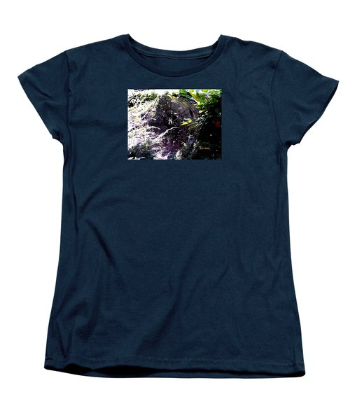 Women's T-Shirt (Standard Cut) featuring the photograph Spider And Web 2 by Sadie Reneau