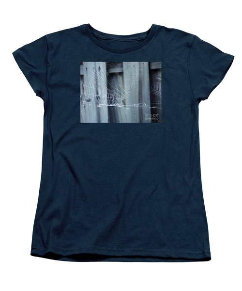 Women's T-Shirt (Standard Cut) featuring the photograph Spider Web by Megan Dirsa-DuBois