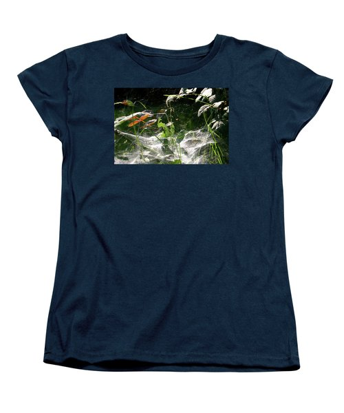 Spiderweb Over Rose Plants Women's T-Shirt (Standard Cut)