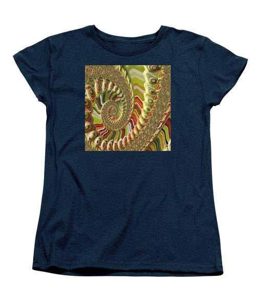 Spiral Fractal Women's T-Shirt (Standard Cut) by Bonnie Bruno