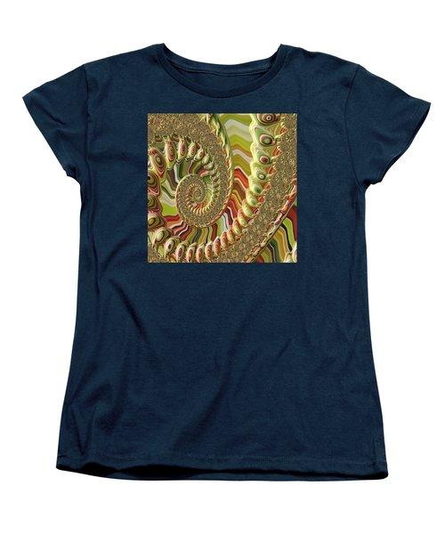 Women's T-Shirt (Standard Cut) featuring the photograph Spiral Fractal by Bonnie Bruno