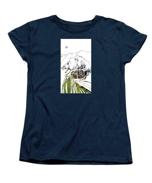 Spirit Animal . Wolverine Women's T-Shirt (Standard Cut) by John Jr Gholson