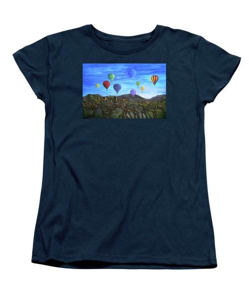 Women's T-Shirt (Standard Cut) featuring the mixed media Spirit Of Boise by Angela Stout