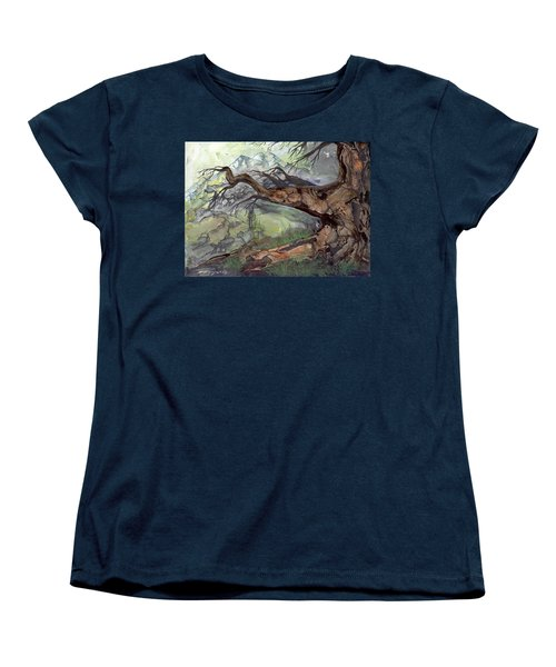 Women's T-Shirt (Standard Cut) featuring the painting Spirit Tree by Sherry Shipley