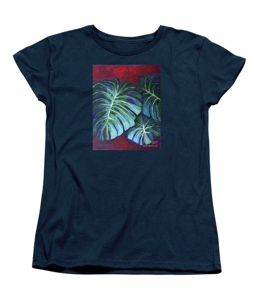 Split Leaf Philodendron Women's T-Shirt (Standard Cut) by Phyllis Howard