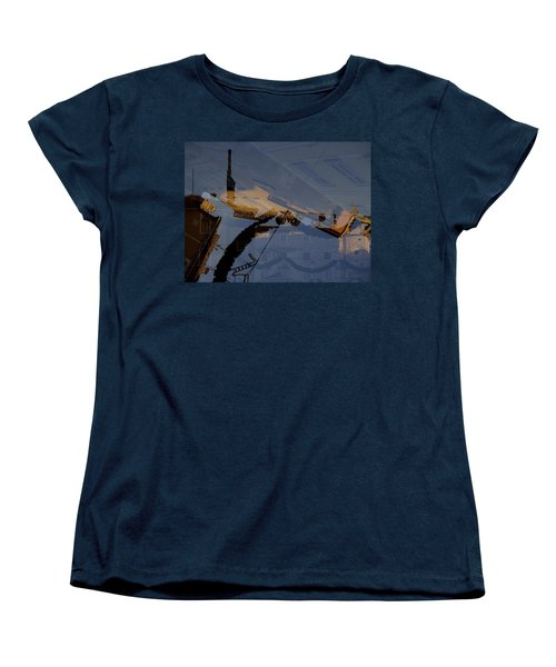 Women's T-Shirt (Standard Cut) featuring the photograph Split Roofs by Danica Radman