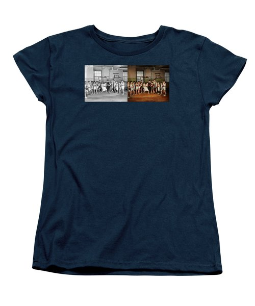 Women's T-Shirt (Standard Cut) featuring the photograph Sport - Boxing - Fists Of Fury 1924 - Side By Side by Mike Savad