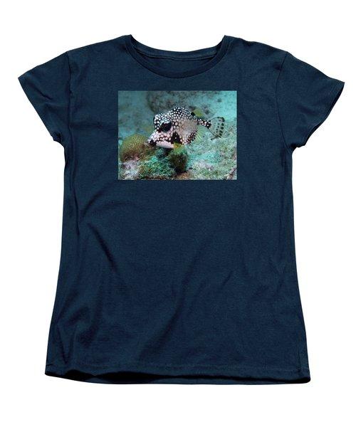 Women's T-Shirt (Standard Cut) featuring the photograph Spotted Trunkfsh by Jean Noren