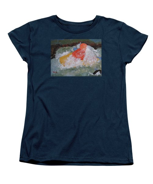 Women's T-Shirt (Standard Cut) featuring the painting Spray by Sandy McIntire