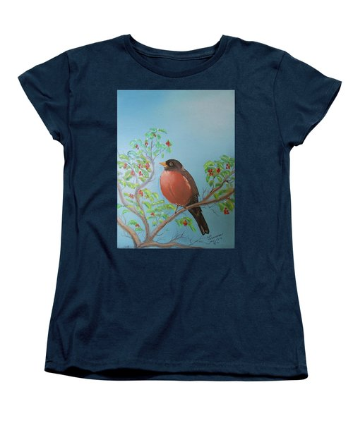 Women's T-Shirt (Standard Cut) featuring the painting Spring by Al Johannessen