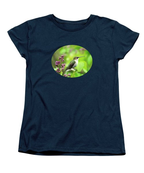 Spring Beauty Ruby Throat Hummingbird Women's T-Shirt (Standard Cut) by Christina Rollo