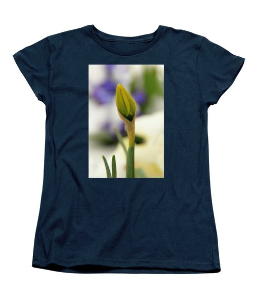 Women's T-Shirt (Standard Cut) featuring the photograph Spring Blooms In The Snow by Chris Berry