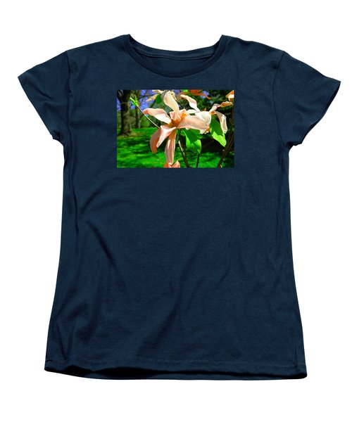 Women's T-Shirt (Standard Cut) featuring the photograph Spring Blossom Open Wide by Jeff Swan