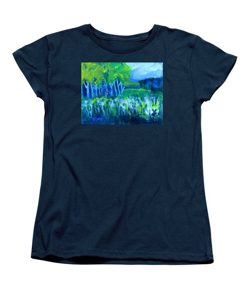 Women's T-Shirt (Standard Cut) featuring the painting Spring Coming by Betty Pieper