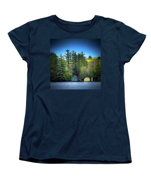 Spring Day At Old Forge Pond Women's T-Shirt (Standard Cut) by David Patterson