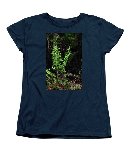 Women's T-Shirt (Standard Cut) featuring the photograph Spring Ferns by Skip Willits