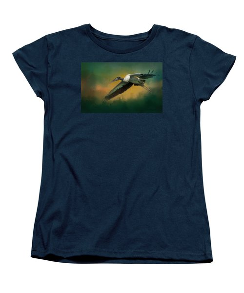 Women's T-Shirt (Standard Cut) featuring the photograph Spring Flight by Marvin Spates