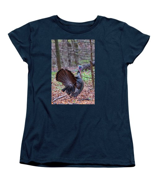 Women's T-Shirt (Standard Cut) featuring the photograph Spring Gobbler by Bill Wakeley