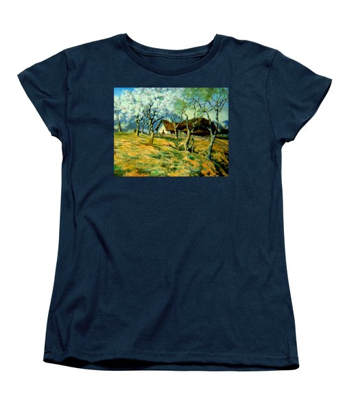 Women's T-Shirt (Standard Cut) featuring the painting Spring In Poland by Henryk Gorecki
