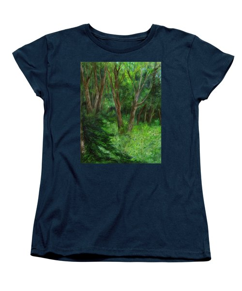 Spring In The Forest Women's T-Shirt (Standard Cut) by FT McKinstry