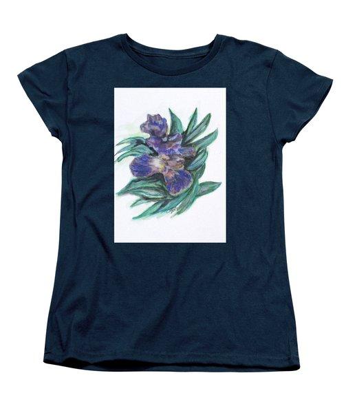 Spring Iris Bloom Women's T-Shirt (Standard Cut) by Clyde J Kell