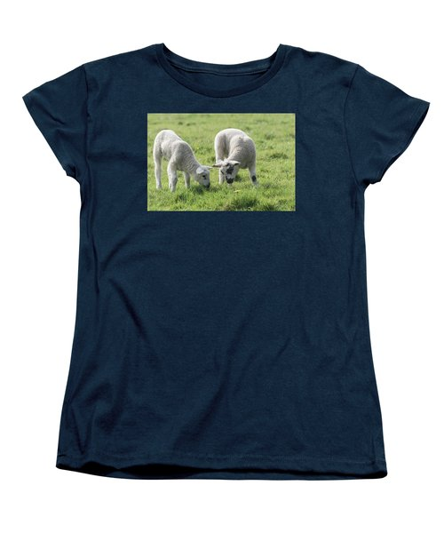 Women's T-Shirt (Standard Cut) featuring the photograph Spring Lambs by Scott Carruthers