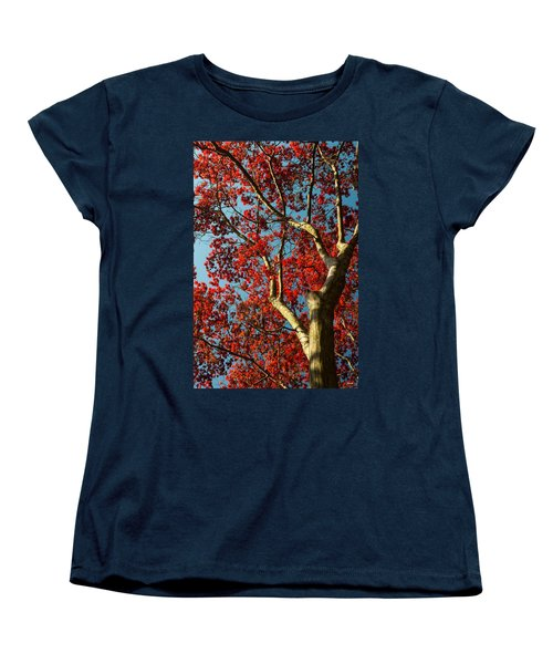 Women's T-Shirt (Standard Cut) featuring the photograph Spring Maple by Dana Sohr