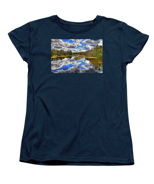 Spring Morning At The Green Bridge Women's T-Shirt (Standard Cut) by David Patterson