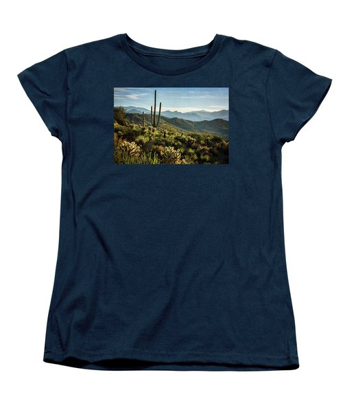 Women's T-Shirt (Standard Cut) featuring the photograph Spring Morning In The Sonoran  by Saija Lehtonen