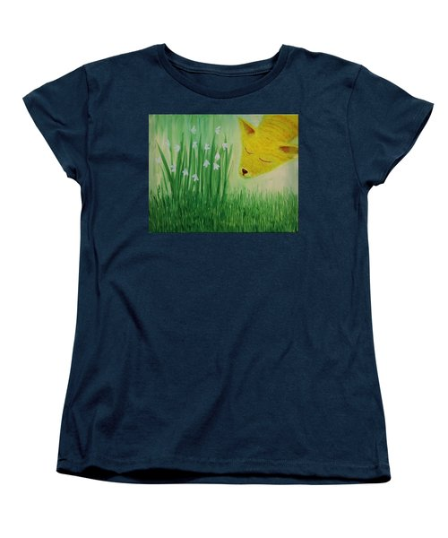 Women's T-Shirt (Standard Cut) featuring the painting Spring Morning by Tone Aanderaa